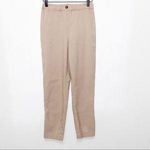 Marina Rinaldi Tan Elastic Waist Tapered Trousers